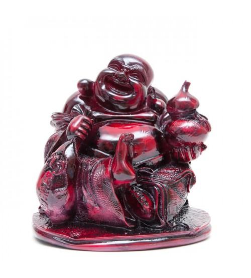 Phật Di Lặc bột đá giả gỗ